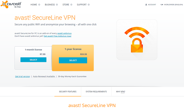 Avast Secureline VPN license File 2017